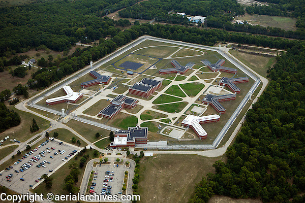 aerial photograph Oaks Correctional Facility, Manistee, Michigan