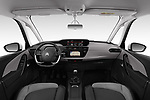 Stock photo of straight dashboard view of a 2018 Citroen Grand C4 Spacetourer Feel 5 Door MPV