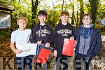 Kerry ETB students Ronan Teahan, Josh O'Sullivan, Ben Egan and Fionnian Keating from Colaiste na Sceilge go orienteering in the Ballyseedy Woods on Tuesday