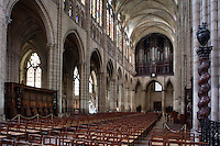 Nave, 12th century, Abbey church of Saint Denis, Seine Saint Denis, France. Picture by Manuel Cohen