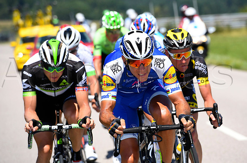 July 5th 2017, Vitell, France, Tour de France stage 4, Vitell to La planche des belles filles;  GILBERT Philippe (BEL) of Quick-Step Floors Cycling team during stage 5 of the 104th edition of the 2017 Tour de France cycling race, a stage of 160.5 kms between Vittel and La Planche Des Belles Filles on July 05, 2017 in La Planche Des Belles Filles