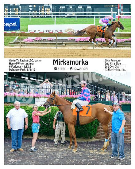 Mirkamurka winning at Delaware Park on 7/4/16