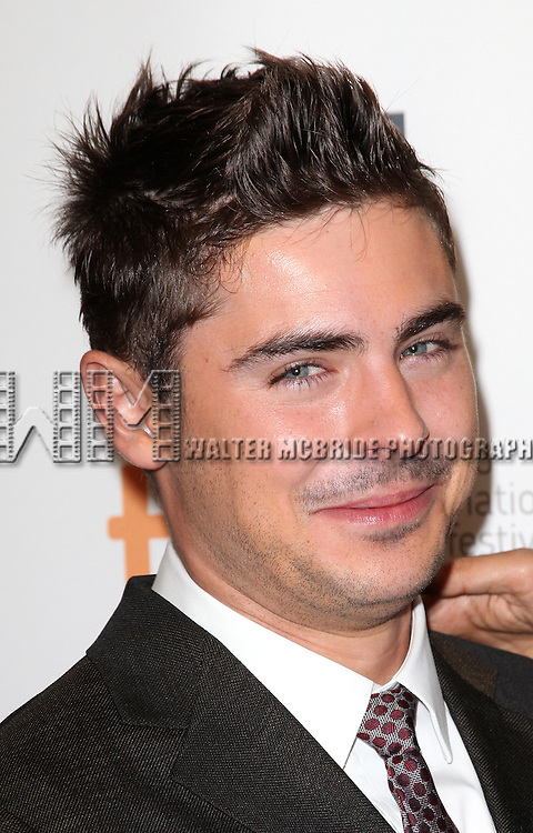 Zac Efron attending the The 2012 Toronto International Film Festival.Red Carpet Arrivals for 'At Any Price' at the Princess of Wales Theatre in Toronto on 9/9/2012