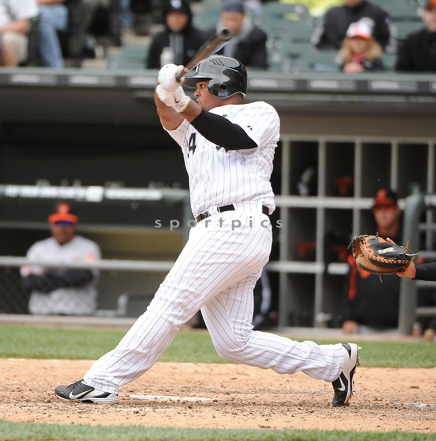 DAYAN VICEDO, of the Chicago White Sox, in action during the White Sox game against the Baltimore Orioles on April 19, 2012 at US Cellular Filed in Chicago, IL. The Orioles beat the White Sox 3-5.