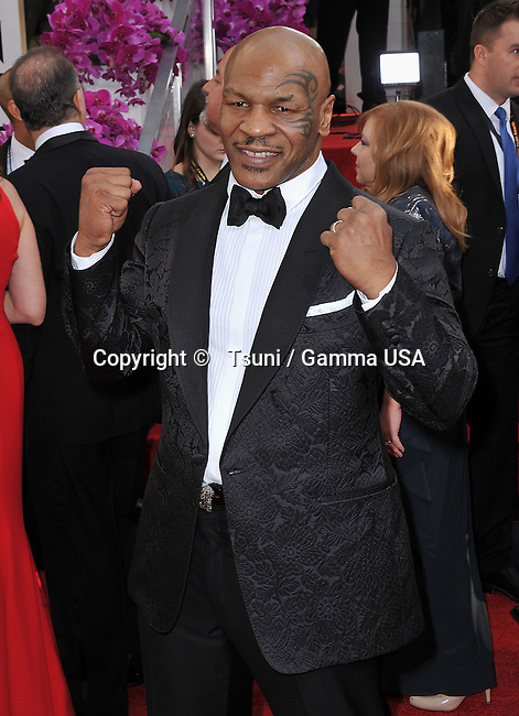Mike Tyson 245 at the 2014 Golden Globes Awards at the Beverly Hilton in Los Angeles.