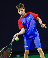 Hilversum, Netherlands, December 3, 2017, Winter Youth Circuit Masters, 12,14,and 16 years, Stefan Mos (NED)<br /> Photo: Tennisimages/Henk Koster