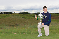 Reece Black (Hilton Templepatrick) winner of the East of Ireland Amateur Open Championship at Co. Louth Golf Club in Baltray on Monday 5th June 2017.<br />