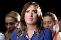 Maria Elena Boschi<br /> Roma 14-06-2014 Assemblea Nazionale del PD Partito Democratico<br /> National Assembly of Democratic Party<br /> Photo Samantha Zucchi Insidefoto