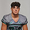 Marco Travaglione of Bellmore JFK poses for a portrait during Newsday's Top 100 Varsity Football Players photo shoot at company headquarters in Melville on Monday, Aug. 20, 2018.