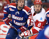 Scott Wilson (UML - 23), Ben Rosen (BU - 8) - The visiting University of Massachusetts Lowell River Hawks defeated the Boston University Terriers 3-0 on Friday, February 22, 2013, at Agganis Arena in Boston, Massachusetts.