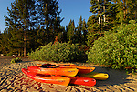 Kayaks at D.L. Bliss State Park, Lake Tahoe