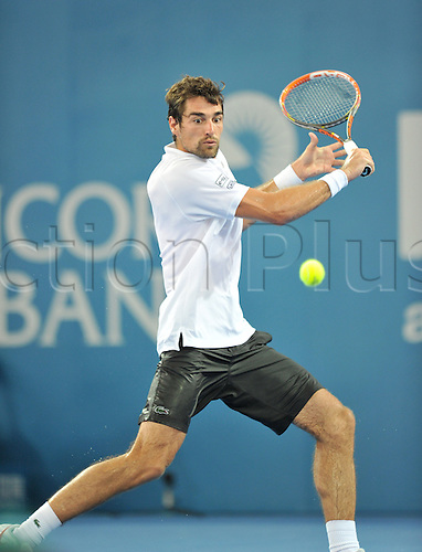 04.01.2014. Brisbane, Australia.  JEREMY CHARDY  Action from day 7 of the Brisbane International tennis tournament.