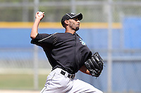 Toronto Blue Jays minor league pitcher Ronald Uviedo #60 during a game vs the New York Yankees at the Englebert Minor League Complex in Dunedin, Florida;  March 21, 2011.  Photo By Mike Janes/Four Seam Images