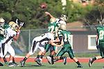 Manhattan Beach, CA 10/27/11 - Shane Scott (Peninsula #18) in action during the Peninsula vs Mira Costa Junior Varsity football game.