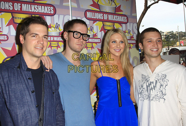 JASON KENNEDY, STEPHANIE PRATT & FRIENDS .Introduces Steph's Slumber Party at Millions of Milkshakes held At Millions of Milkshakes, West Hollywood, California, USA, 9th January 2010..half length blue zip up guests .CAP/ADM/KB.©Kevan Brooks/Admedia/Capital Pictures