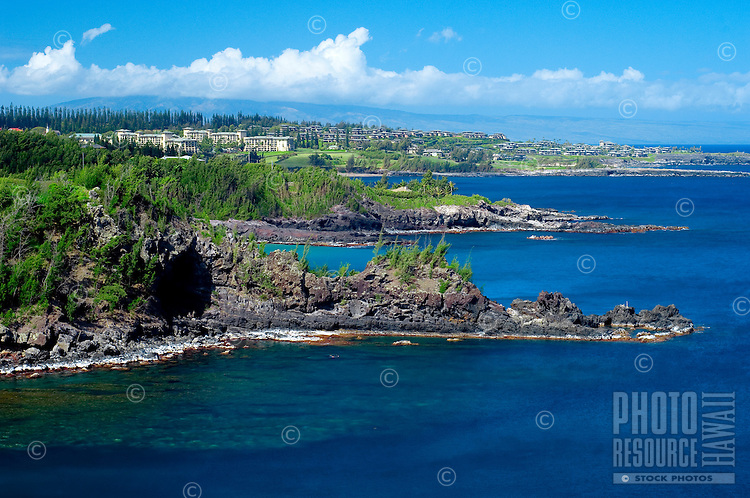 Maui's northwest coastline with view of Ritz Carlton and Kapalua Resort