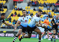 Fiji's Brayden Wiliame in action during the 2017 Rugby League World Cup quarterfinal match between New Zealand Kiwis and Fiji at Wellington Regional Stadium in Wellington, New Zealand on Saturday, 18 November 2017. Photo: Mike Moran / lintottphoto.co.nz