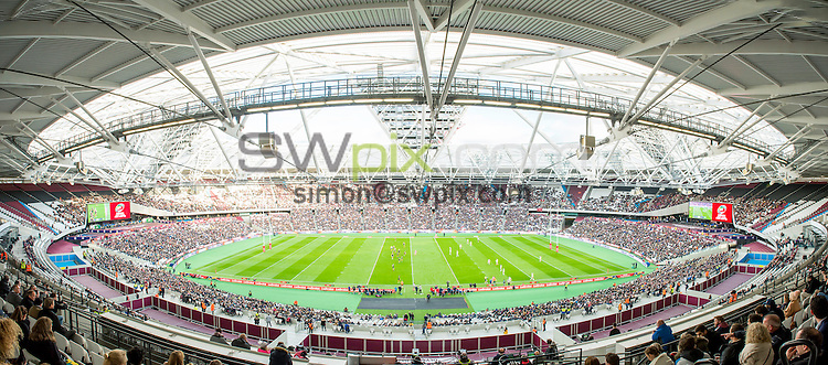 Picture by Allan McKenzie/SWpix.com - 13/11/2016 - Rugby League - 2016 Ladbrokes Four Nations - England v Australia - The Olympic Stadium, London, England - The brief, A panoramic general view, GV, of London Stadium.