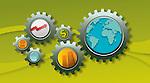 Conceptual image of business mechanism