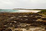 Coastal rocks and beach, Murramarang Beach, Murramarang National Park, New South Wales, Australia