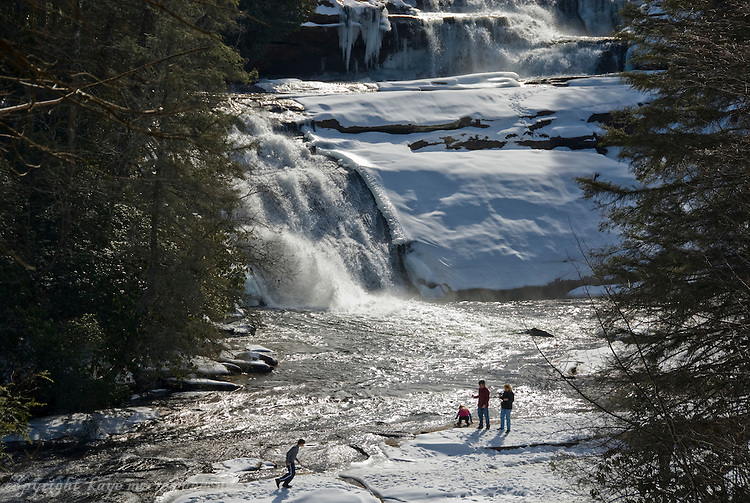 Frozen Triple Falls in Dupont State Park