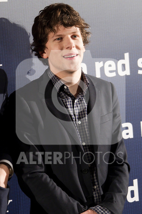 Jessie Eisenberg attends 'The Social Network' photocall at the Villamagna Hotel on October 6, 2010 in Madrid, Spain...Photo: Cesar Cebolla / ALFAQUI