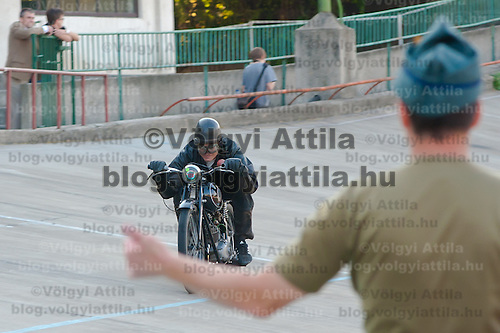 HIstoric motorbike race in Budapest, Hungary on September 17, 2011. ATTILA VOLGYI