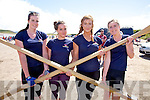 The Callinafercy Minor Ladies crew who finished third at the Ballinskelligs regatta on Saturday last pictured here l-r; Laura Jennings, Tara Doyle-Coffey, Shauna McGillicuddy & Heather O'Sullivan.  Valentia finished in 1st and Portmagee in 2nd place.