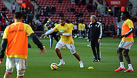 Pictured: Ashley Williams Sunday 01 February 2015<br /> Re: Premier League Southampton v Swansea City FC at ST Mary's Ground, Southampton, UK.