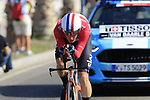 Dutch National Champion Dylan Van Baarle (NED) Team Sky during Stage 1 of the La Vuelta 2018, an individual time trial of 8km running around Malaga city centre, Spain. 25th August 2018.<br /> Picture: Eoin Clarke | Cyclefile<br /> <br /> <br /> All photos usage must carry mandatory copyright credit (© Cyclefile | Eoin Clarke)