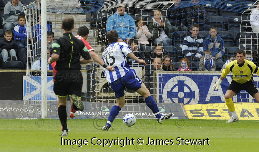 17/05/2008   Copyright Pic: James Stewart.File Name : sct_jspa09_kilmarnock_v_falkirk.PEDRO MOUTINHO SCORES FALKIRK'S FIRST.James Stewart Photo Agency 19 Carronlea Drive, Falkirk. FK2 8DN      Vat Reg No. 607 6932 25.Studio      : +44 (0)1324 611191 .Mobile      : +44 (0)7721 416997.E-mail  :  jim@jspa.co.uk.If you require further information then contact Jim Stewart on any of the numbers above........