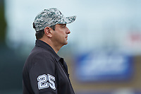 Third base umpire Olindo Mattia during the game between the Florida State Seminoles and the North Carolina Tar Heels in the 2017 ACC Baseball Championship Game at Louisville Slugger Field on May 28, 2017 in Louisville, Kentucky. The Seminoles defeated the Tar Heels 7-3. (Brian Westerholt/Four Seam Images)