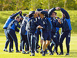 Rangers players learning how to do Scottish Country Dancing at Murray Park ahead of the Ceilidh Season in 2003