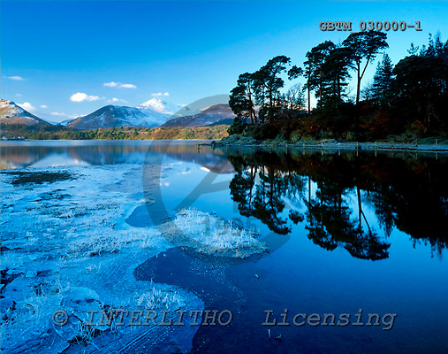 Tom Mackie, CHRISTMAS LANDSCAPE, photos, Friar's Crag Reflections in Winter, Lake District National Park, Cumbria, England, GBTM030000-1,#XL# Landschaften, Weihnachten, paisajes, Navidad