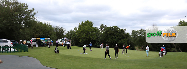 View of one of two putting greens ahead of the 2014 Alfred Dunhill Championship at the Leopard Creek Country Club, Malelane, Mpumalanga, South Africa. Picture:  David Lloyd / www.golffile.ie