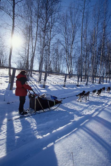 Harmony Kanavle on Trail Near Knik  Checkpoint
