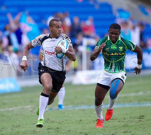 19.10.2012. Gold Coast, Australia.  Ilai Tinai - Fiji Sevens - Gold Coast Sevens 2012 - Skilled Park Stadium  HSBC Sevens World Series