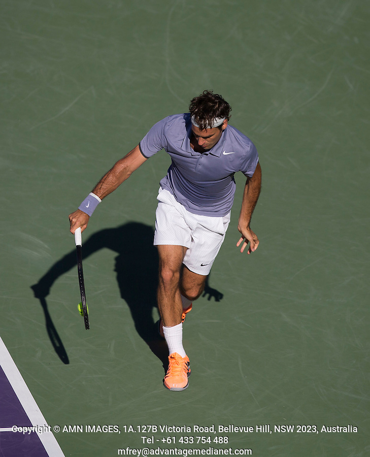 ROGER FEDERER (SUI)<br /> Tennis - Sony Open -  Miami -   ATP-WTA - 2014  - USA  -  25 March 2014. <br /> <br /> &copy; AMN IMAGES