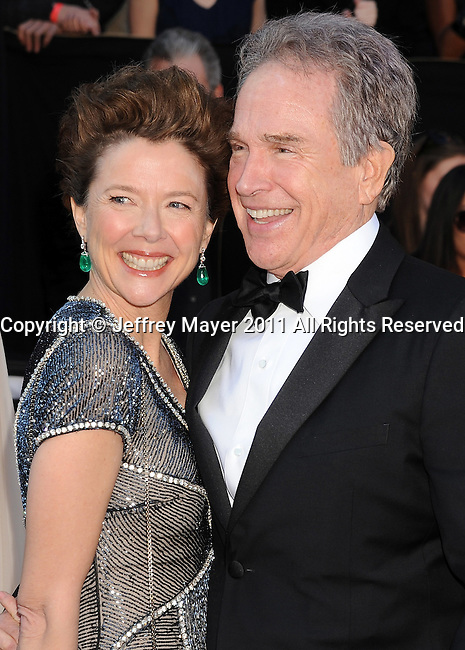 HOLLYWOOD, CA - FEBRUARY 27: Annette Bening and Warren Beatty arrive at the 83rd Annual Academy Awards held at the Kodak Theatre on February 27, 2011 in Hollywood, California.