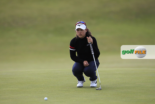 Min A Yoon (South Korea) on the 7th green during Round 3 Matchplay of the Women's Amateur Championship at Royal County Down Golf Club in Newcastle Co. Down on Friday 14th June 2019.<br /> Picture:  Thos Caffrey / www.golffile.ie