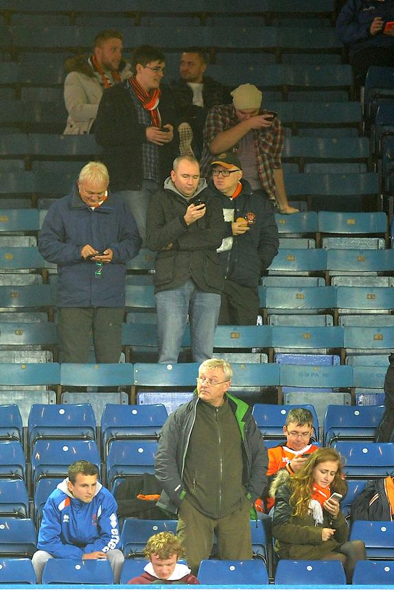 Blackpool fans at half-time<br /> <br /> Photographer Kevin Barnes/CameraSport<br /> <br /> Football - The Football League Sky Bet Championship - Leeds United v Blackpool - Saturday 8th November 2014 - Elland Road - Leeds<br /> <br /> &copy; CameraSport - 43 Linden Ave. Countesthorpe. Leicester. England. LE8 5PG - Tel: +44 (0) 116 277 4147 - admin@camerasport.com - www.camerasport.com