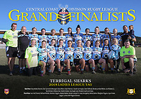 The Terrigal Sharks pose for their team photo before the 2018 Ladies League Tag Central Coast Rugby League Division Grand Final at Woy Woy Oval on 16 September, 2018 in Woy Woy, NSW Australia. Photo: Paul Barkley | LookPro Photography
