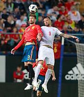 SPAIN v SWITZERLAND. INTERNATIONAL FRIENDLY MATCH.