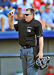 12 March 2012: MLB Umpire Gary Cederstrom in action during a Spring Training game between the St. Louis Cardinals and the Washington Nationals at Space Coast Stadium in Viera, Florida. The Nationals defeated the Cardinals 8-4 in Grapefruit League play. Mandatory Credit: Ed Wolfstein Photo