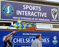 An AFC Wimbledon fan seen prior to the Sky Bet League 1 match between AFC Wimbledon and MK Dons at the Cherry Red Records Stadium, Kingston, England on 22 September 2017. Photo by Carlton Myrie / PRiME Media Images.