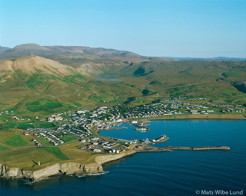 Húsavík séð til suðausturs /.Husavik viewing southeast. .Norðurþing / Nordurthing