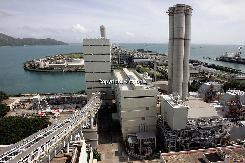 A general view of the 'Hong Kong Electric' (HEC) Lamma Power Station, Hong Kong, China. The station provides power to Hong Kong Island and Lamma Island..29 Jul 2010