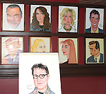 'Other Desert Cities' portraits:  Jon Robin Baitz, Stacy Keach, Stockard Channing, Judith Light & Joe Mantello.attending the celebration for Jon Robin Baitz receiving a Caricature on Sardi's Hall of Fame in New York City on 5/31/2012