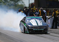 Jul 9, 2016; Joliet, IL, USA; NHRA pro stock driver Kenny Delco during qualifying for the Route 66 Nationals at Route 66 Raceway. Mandatory Credit: Mark J. Rebilas-USA TODAY Sports
