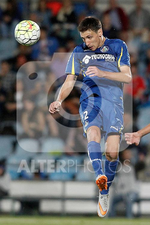 Getafe's Stefan Scepovic during La Liga match.September 18,2015. (ALTERPHOTOS/Acero)